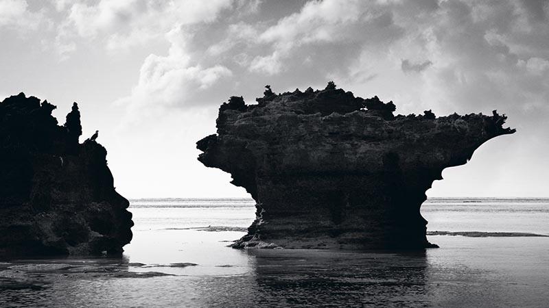 Shadow in the rocks